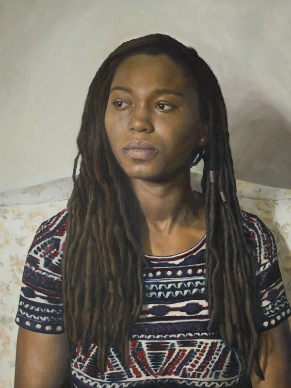 """I am everything, 18"""" x 24"""", oil on linen, framed, by Sarah Marie Lacy"""